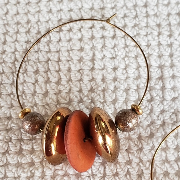Jewelry - Brown and Gold earrings